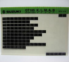Suzuki GT185 Adventurer 1973 - 1977 Parts Microfiche s208