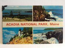 Acadia National Park Maine Porcupine Islands Otter Cliff Surf Vintage Postcard