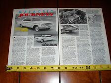 1963 1/2 FORD GALAXIE LIGHTWEIGHT FACTORY RACE CAR - ORIGINAL 1990 ARTICLE