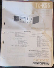 Sony TC-K55 cassette deck service repair workshop manual (original copy)