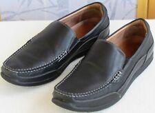 11.5 M | Vionic Preston Men Black Slip On Orthotic Casual-Dress Loafer Shoe
