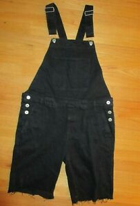NWT Forever 21 Black Overall Shorts Size Large