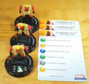 A.I.Marine Hulk x3 #100 LE from Incredible Hulk Heroclix set with cards