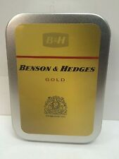 Benson & Hedges Gold Advertising Brand Cigarette Tobacco Storage 2oz Hinged Tin