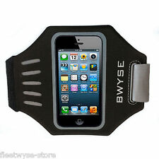 Premium Easy Fit Sport Running Armband for iPhone 5 5S & 5C black