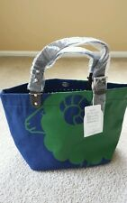 NWT Authentic Frapbois Zoo Navy Tote Bag with Green Sheep Graphic from Japan