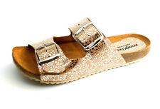 Morxiva Leder Sandalen Damen Sandaletten Bio Pantoletten Fußbett Leather Sandals