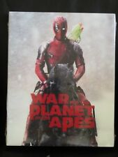 War of the Planet of the Apes Deadpool Photobomb Blu-Ray Slip Cover Walmart New