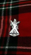 TC ST Andrew Cap Badges/Glengarry Hat Badge Pin ST Andrew Silver Chrome Finish