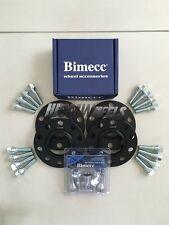 4 x 20mm Black Alloy Wheel Spacers Silver Bolts Locks - BMW E90 E91 E92 E93