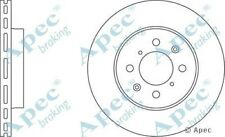 1x OE Quality Replacement Front Axle Apec Vented Brake Disc 4 Stud 262mm Single