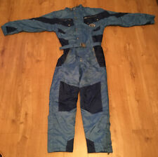 Vintage Retro Generic Snow Men's One Piece Ski Suit Zip & Popper Fasten Small