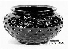 Depression Glass Black Amethyst Glass Hobnail Bowl Vase Round Pot 1930s