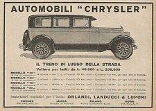 Z0455 Automobili CHRYSLER il treno di lusso... - Pubblicità del 1927 - Advertis.