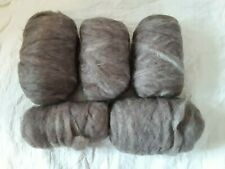 2.5 lbs Easy to Spin Wool Roving - Browns