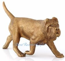 "Neapolitan Mastiff Bronze Dog Statue Figurine Russian Art Animal Sculpture 5.7"""