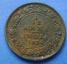 India British - 1/12 Anna 1924 George V - Calcutta - KM# 509