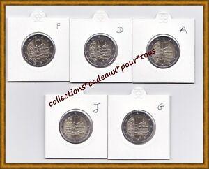 ALLEMAGNE 2 Euro commémoratives 2013 x 5 (ADFGJ) - Monastère  Maulbronn