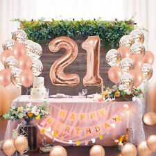 21st Girls Birthday Party Decoration Supplies 41Pcs Birthday Party Balloons Sets
