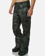 Oakley Men's 10k 2L Shell Cargo Ski Snowboard Pants, NWT Green Camo XL A