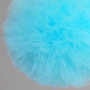 Aqua blue tulle pom poms - tutu - wedding party decorations - nursery decor