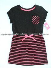 62% OFF! CIRCO KID'S PINK/BLACK STRIPED TEE SHIRT DRESS SMALL BNWT $14.99