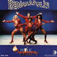 MILK & COFFEE - INDIANAPOLIS -adesivo pubblicitario NUOVO 1979 cm 11 x cm 11