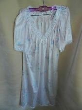 MISS DIVA WOMENS SIZE M Medium NIGHTGOWN NWOT Pink Floral Lace Nylon Vintage