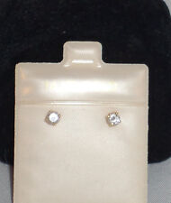 14Kt Yellow Gold Diamond Earrings NEW with tags