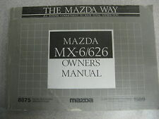 1989 Mazda Mx-6/626 Owners Owner's Manual