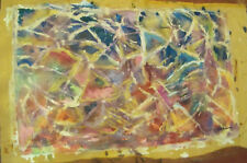 """""""COLORS""""by RUTH FREEMAN ACRYLIC/ UN-STRETCHED CANVAS 18"""" X 30"""""""