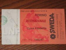TORINO INTER BIGLIETTO TICKET CALCIO 1986/87 SERIE A