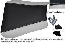 LIGHT GREY & BLACK CUSTOM FITS TRIUMPH 01-05 SPEED TRIPLE 955 i FRONT SEAT COVER