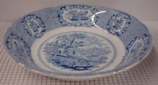 Ridgway ORIENTAL Coupe Soup Bowl BLUE TRANSFERWARE GOLD TRIM More Item Available