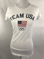 Women's Team USA Olympic Short Sleeve T-Shirt white size M