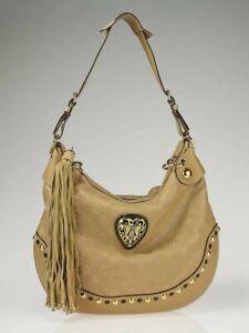 GUCCI 'Babouska' Beige Guccissima Leather Heart Hobo Bag