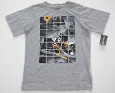 Neuf All Star Converse T-Shirt Enfants Garçons Gris Taille Gr.140-152 18