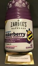 Zarbee's Elderberry Sambucus - Immune Support Gummies W/ Zinc Vitamin C Berry 42