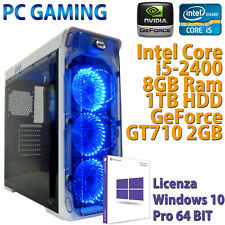 PC COMPUTER DESKTOP DA GIOCO GAMING CORE i5-2400 RAM 8GB HDD 1TB VGA GT710 2GB