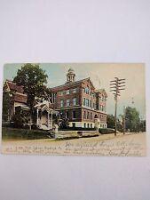 Vintage Postcard High School Bradford PA 1909 Postmark