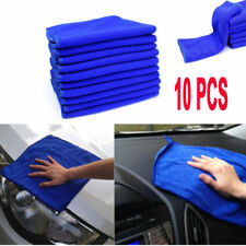 10 x Blue Microfibre Cleaning Auto Car Detailing Soft Cloths Wash Towel Duster