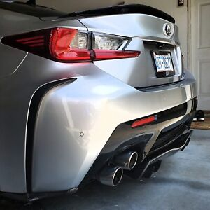 Carbon Fiber Rear Bumper Extensions To Fit Lexus RCF 15-18