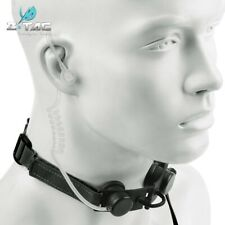 Z-tactical Throat Mic Headset Portable Radio Airsoft PTT w/Tube Earpiece BK Z033