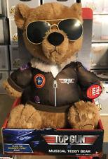 TOP GUN Musical Teddy Bear Maverick Aviator Jacket Danger Zone Song 2020