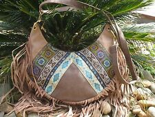 Casual Vintage Hippie Bohemian Surf RetroTassels Fringing Embroidered Handbag