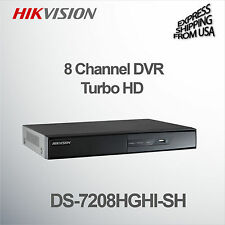 8 Channel DVR Turbo HD Surveillance Security CCTV Hikvision DS-7208HGHI-SH H.264