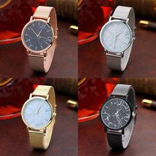 Fashion Women Watch Marble Surface Stainless Steel Band Quartz Analog Wristwatch