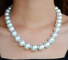 "Huge18""11-12mm South Sea genuine White Round Pearl Necklace  9866AAA"