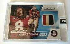 Devonta Freeman 2016 Panini Eternal Collegiate Champions 3 color Jersey Blue /25