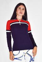 SPORTFUL Vintage Felpa Sweatshirt Multi In Lana Wool TG IT 48-XXL Donna Woman